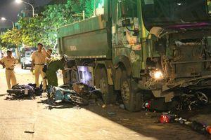Khởi tố, bắt giam tài xế xe ben lùa hàng loạt xe máy ở Gò Vấp
