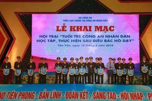 Khai mạc Hội trại 'Tuổi trẻ Công an nhân dân học tập, thực hiện 6 điều Bác Hồ dạy'