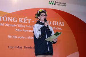 16 thí sinh đạt điểm tuyệt đối bài thi nói cuộc thi Olympic tiếng Anh