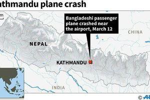 Máy bay Bangladesh chở 67 hành khách rơi ở Nepal