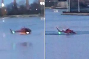 Trực thăng rơi xuống sông ở New York, ít nhất 2 người thiệt mạng