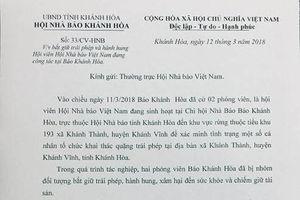 Hội Nhà báo Khánh Hòa đề nghị xử nghiêm vụ tấn công PV