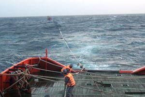 Cứu nạn thành công tàu cá và 9 thuyền viên gặp nạn trên biển