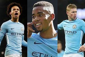 Đội hình công cường thủ chắc giúp Man City 'hủy diệt' Stoke City