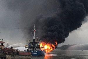 Cty Hải Hà từng bị cháy tàu ở cảng xăng dầu Diêm Điền
