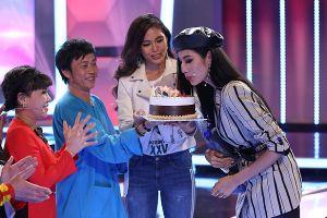 Á hậu Hoàng Thùy bất ngờ được Hoài Linh và Việt Hương tổ chức sinh nhật