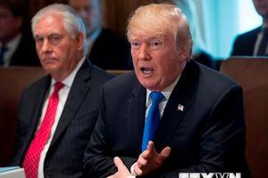 Tổng thống Mỹ: Có nhiều bất đồng quan điểm với Ngoại trưởng Tillerson