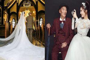 Xúc động bộ ảnh cưới của cháu gái cùng ông nội vì lý do đau lòng