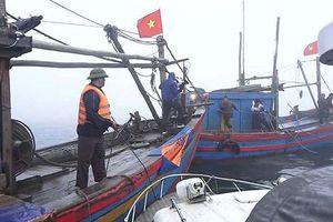 2 tàu cá đánh bắt trên vùng biển cấm khai thác ở Thanh Hóa