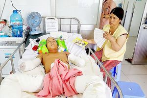 Một thanh niên bị nạn mất tay chân