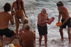 Đang vui vẻ tắm biển, người phụ nữ bất ngờ sinh con 'thuận tự nhiên' khiến ai cũng sốc