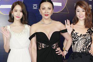 Yoona đọ sắc với Lâm Tâm Như, Lưu Gia Linh dù U50 vẫn khoe vòng 1 đẫy đà trên thảm đỏ Asian Film Awards 2018