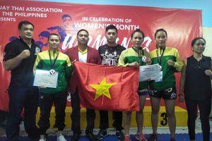 Tuyển muay nữ TP.HCM thắng vang dội tại giải festival mở rộng ở Philippines