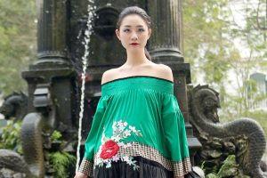 Dàn mẫu Việt diễn thời trang ở vườn hoa ngoài trời