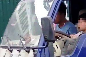 Công an xác minh clip bé trai lái xe tải ở Thanh Hóa gây bức xúc dư luận