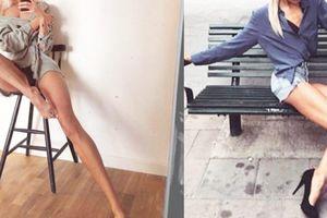 Đôi chân siêu dài tới mức khó thể tưởng tượng của người mẫu Thụy Điển