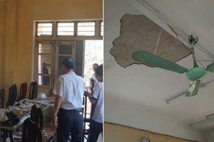 Học sinh và giáo viên trường THPT Trần Nhân Tông hoang mang trước sự việc sập trần nhà