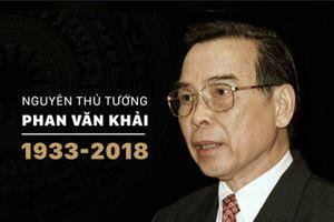Lễ viếng nguyên Thủ tướng Chính phủ Phan Văn Khải