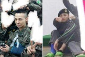 Lộ hình ảnh G-Dragon bị thương trong quân ngũ
