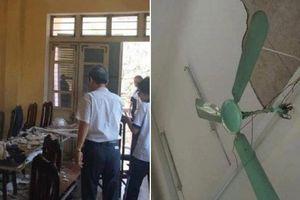 Hà Nội lên tiếng vụ 3 học sinh đổ máu do mảng vữa sập giữa lớp học