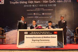 Ký 4 thỏa thuận hợp tác giữa doanh nghiệp công nghệ thông tin,truyền thông Việt Nam - Hàn Quốc