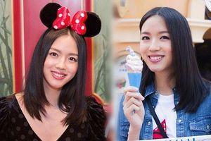 Hoa hậu Thế giới Trương Tử Lâm đón sinh nhật cùng con gái ở Disneyland