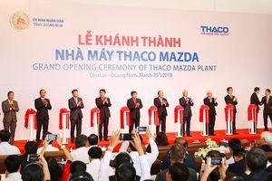 Thủ tướng Nguyễn Xuân Phúc cắt băng khánh thành nhà máy Thaco