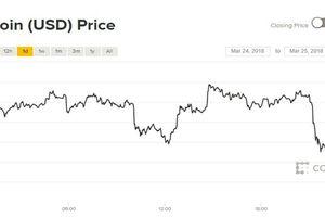 Giá Bitcoin hôm nay 25/3: Bất ngờ rơi xuống