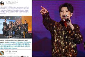 Fan nước ngoài khen không ngớt Noo Phước Thịnh hậu phần trình diễn tại Hong Kong