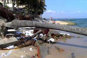 Nhiều Resort ở Hàm Tiến bị thiệt hại nặng do biển xâm thực