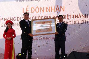 Đà Nẵng: Thành Điện Hải vinh dự xếp hạng Di tích quốc gia đặc biệt