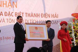 Thành Điện Hải đón nhận bằng di tích cấp quốc gia đặc biệt