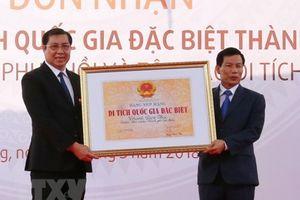 Đà Nẵng: Đón nhận Bằng xếp hạng di tích quốc gia đặc biệt Thành Điện Hải