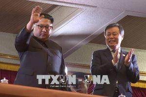 Nhà lãnh đạo Triều Tiên tham dự buổi diễn của đoàn nghệ sĩ Hàn Quốc