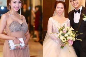 Mỹ nhân 'Nhật ký Vàng Anh' mặc xuyên thấu táo bạo dự đám cưới MC Đức Bảo
