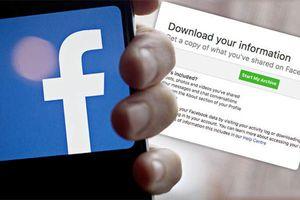 Cách tải về toàn bộ dữ liệu trước khi xóa Facebook