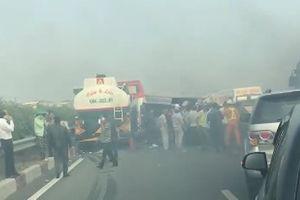 Tạm đóng làn vào cao tốc Long Thành–Dầu Giây hướng về TPHCM vì tai nạn liên hoàn