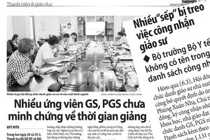 Nhiều ứng viên GS, PGS có hồ sơ bị loại là quan chức