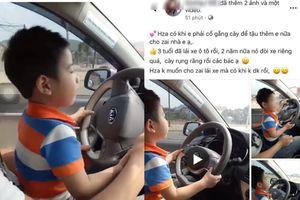 Đăng clip con trai 3 tuổi lái ô tô để khoe của, vợ chồng ở Hà Nội gây phẫn nộ