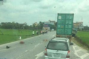 Thái Bình: 2 mẹ con tử vong khi va chạm với xe tải chạy ngược chiều