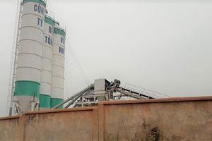 Vĩnh Phúc: Chưa được cấp phép, trạm trộn bê tông vẫn ngang nhiên xây dựng