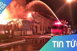 Cháy lớn tại khu công nghiệp ở Quảng Ninh