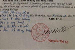 Đà Nẵng: Cán bộ giả chữ ký chủ tịch phường sẽ bị đuổi việc?