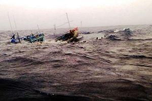Hai tàu cá nghi bị tàu hàng đâm chìm, 7 thuyền viên bị thương
