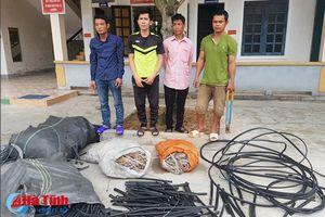 Nhóm công nhân trộm cáp đồng của Viễn thông Hà Tĩnh