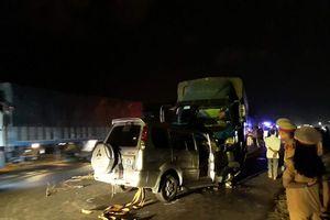 Ôtô 7 chỗ đâm trực diện xe tải, Trưởng công an thị trấn tử vong