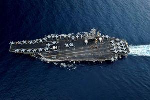 Nhóm tác chiến tàu sân bay Mỹ tập trận với chiến hạm Singapore ở Biển Đông