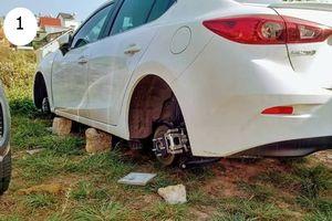 Nóng trên mạng xã hội: Sốc với nạn ăn cắp bánh xe ô tô ở Đà Lạt