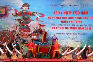 Rộn ràng khai hội Đền Bà Triệu - Thanh Hóa