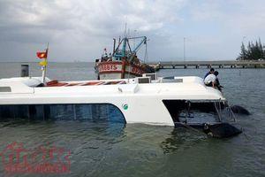 Trục vớt để điều tra nguyên nhân tàu cao tốc Greenlines DP bị chìm trên biển Cần Giờ